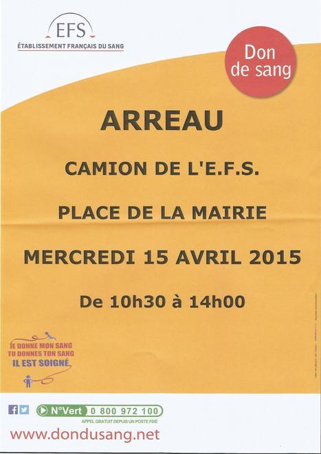 Collecte de sang à Arreau le 15 avril - Etablissement Français du Sang | Mes Hautes-Pyrénées | Scoop.it