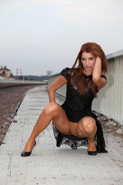 Twitter / SheerAddict: For breakfast? Red Head in ... | Shiny Pantyhose | Scoop.it