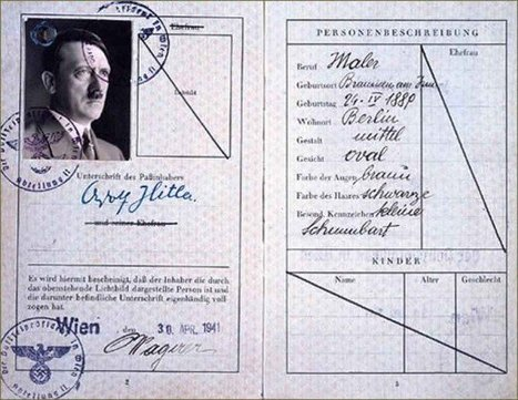 Hitler's Fake Passport,April 1941 | GenealoNet | Scoop.it