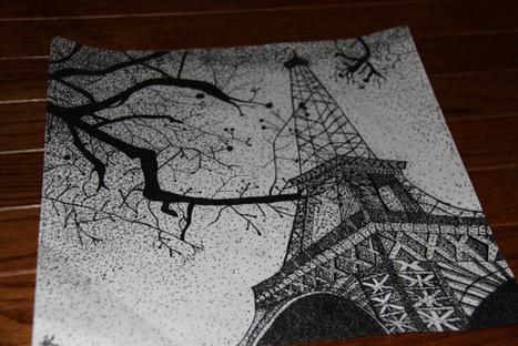 Dessin de la Tour Eiffel à Paris. - Quid pro quo. | dessin | Scoop.it