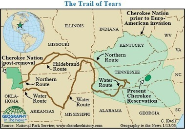 Geography in the News: The Long Trail of Tears   Geography in the News   Scoop.it