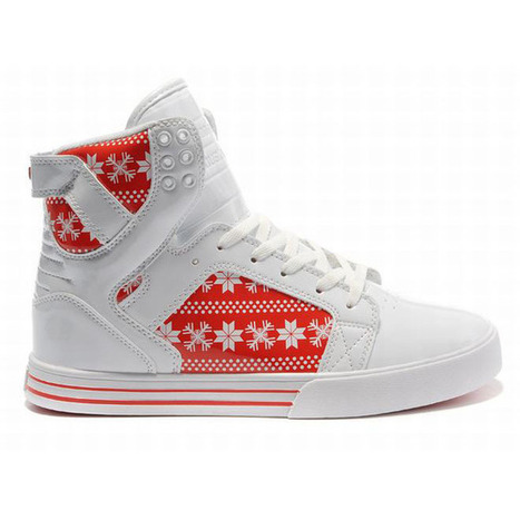 New Supra Skytop High Tops White Red Men Shoes | popular list | Scoop.it