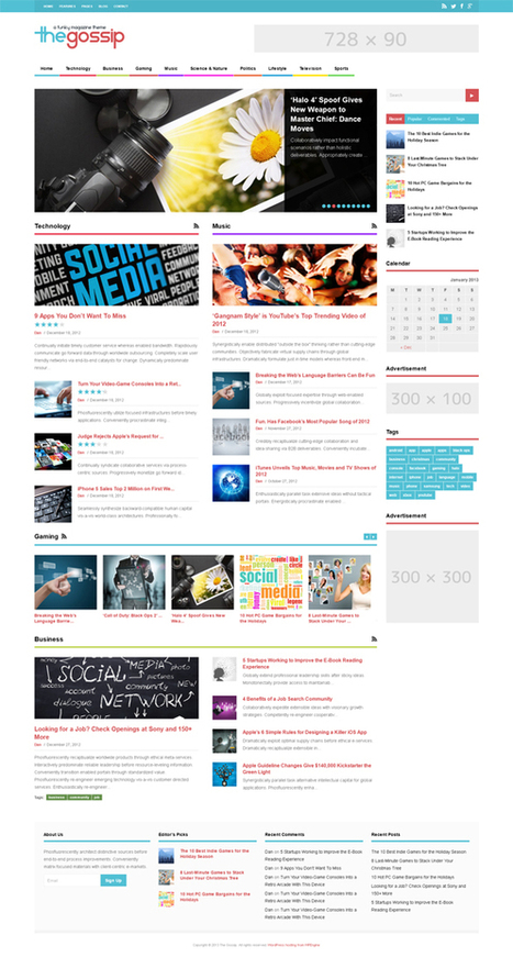 Gossip Funky, WordPress Responsive Magazine Theme | WP Download | Tfeifer10 | Scoop.it