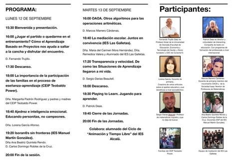 PROGRAMA DE LAS IV JORNADAS DE EDUCACIÓN DEL CEP TENERIFE SUR #JCEPSUR16   CEP Tenerife Sur   Scoop.it