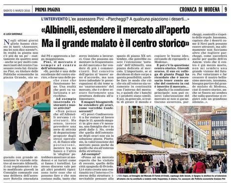 Le Grandi Idee Per Fare Morire Il Mercato Albinelli. | Modena Come | centro commerciale naturale | Scoop.it