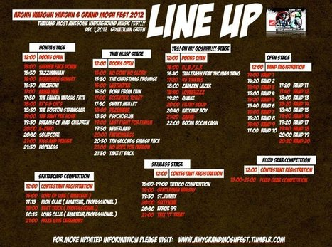 AWY6 LINE UP - 1 December 2012 มหกรรมดนตรี อ๊ากกก ว๊ากกกก จ๊ากกกกก ปีที่ 6 | FMSCT-Live.com | Scoop.it