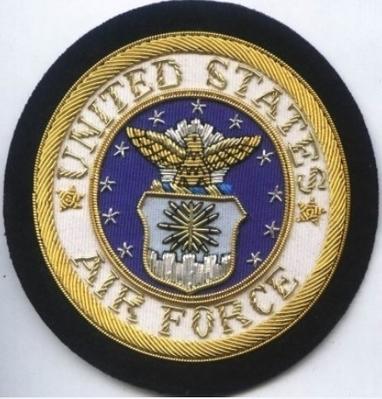 United states Air Force Bullion wire Blazer Badge | Blazer Badges | Scoop.it