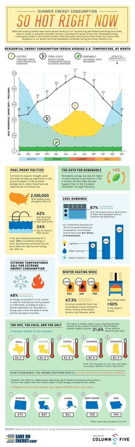 Summer Energy Consumption | Infographic | green infographics | Scoop.it