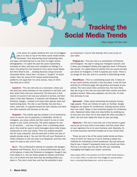 Octane Article | Social Media, the 21st Century Digital Tool Kit | Scoop.it