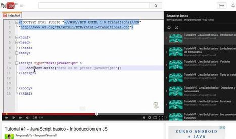 Tutorial de JavaScript básico en 32 vídeos | Herramientas Web 2.0 | Scoop.it
