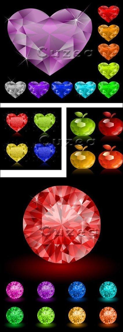 Colección de diamantes en vector   Recursos   Scoop.it
