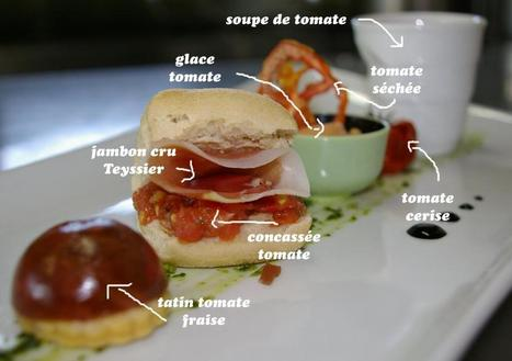 Twitter / RaymondLAFFONT: Déclinaison autour de la tomate ...   Restaurant Le Panoramic   Scoop.it