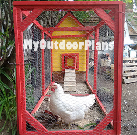 Diy Chicken Run Plans | Free Outdoor Plans - DIY Shed, Wooden Playhouse, Bbq, Woodworking Projects | Garden Plans | Scoop.it