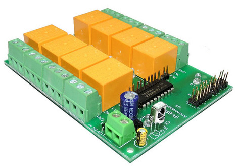 8 ch IR remote control relay card with programmable RC5 code iR-8R-V launched. | Serial LCD | Scoop.it
