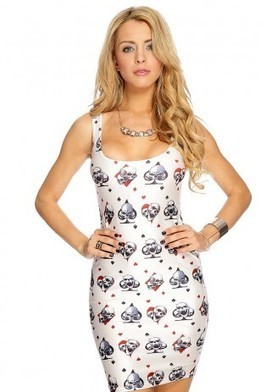 Ivory Skulls Print Sleeveless Dress   The Season's Hottest Styles from Pink Basis   Scoop.it