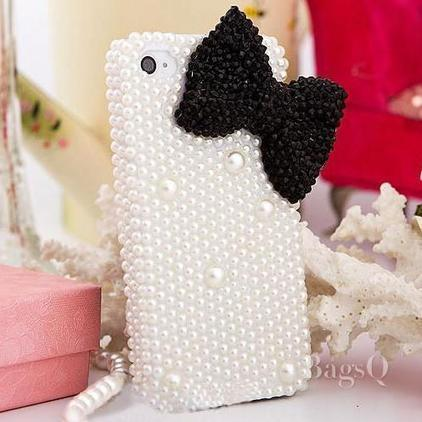$ 23.09 New Arrival Pearl and Bowknot Case for iPhone4/4S&iPhone5/5S | fashion | Scoop.it