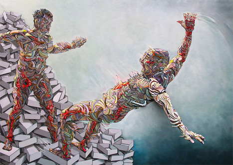 Colorful Figures that Explode Through the Canvas by Shaka | Arts graphiques | Scoop.it