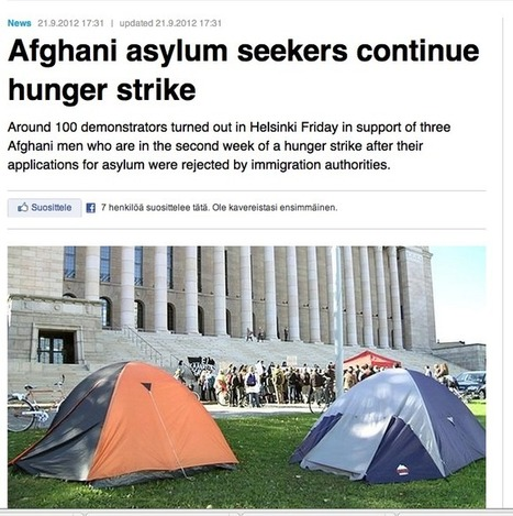YLE in English: Three Afghani asylum seekers continue hunger ... | Education technology* EDU401* | Scoop.it