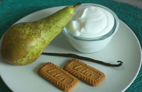 Fromage blanc à la vanille, coulis de poire et Spéculoos  - Conseils de mamans - Cuisine de bébé | Conseils de parents | Scoop.it
