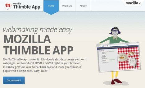 Mozilla Thimble App-create web pages | 21st Century Tools for Teaching-People and Learners | Scoop.it