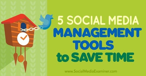 Five Social Media Management Tools to Save Time | Social Media Examiner | SocialMoMojo Web | Scoop.it