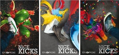 Joli coup de pied graphique pour une campagne haute en couleurs ! - Tendances Com | Communication | Scoop.it