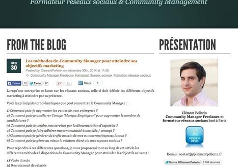 Les méthodes du Community Manager pour atteindre ses objectifs marketing | #TonUpdate | Relations publiques + Marketing | Scoop.it