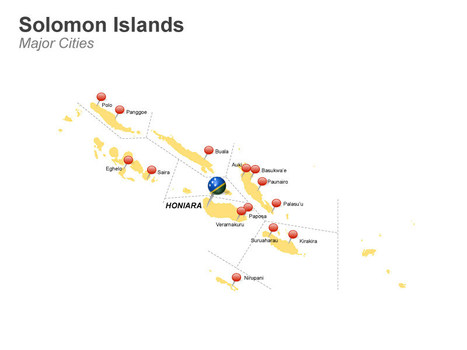 Solomon Islands Map - Editable in PowerPoint | Solomon Islands | Scoop.it