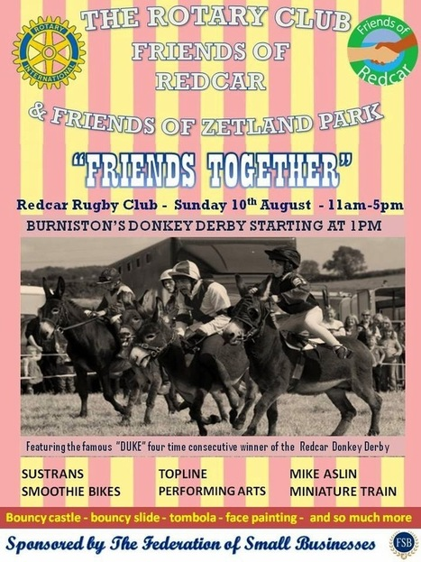 """Friends Of Redcar: Redcar """"Friends Together"""" Sunday 10th August 2014 