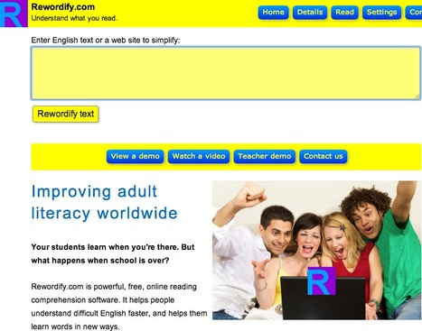 Rewordify.com: Understand what you read | Universal Design for Learning Online | Scoop.it