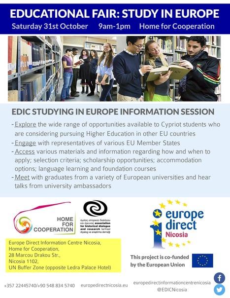 Educational Fair: Study in Europe | European Documentation Centre (EDC) | Scoop.it