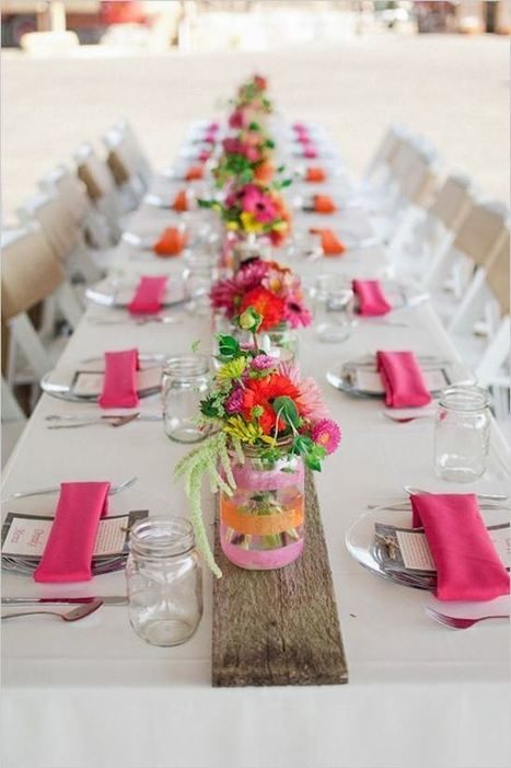 10 Elegant & Inspiring Table Idea for Outdoor Dinner Party | Wedding Catering | Scoop.it