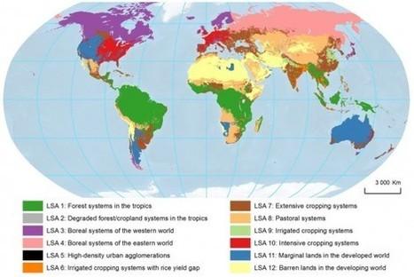 La carte mondiale de l'utilisation des sols   CARTOGRAPHIE   Scoop.it