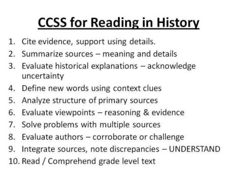 The Common Core in Social Studies | Common Core... | Common Core and Teacher Leadership | Scoop.it
