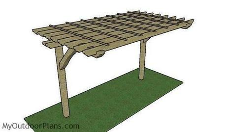 2 Post Pergola Plans | MyOutdoorPlans | Free Woodworking Plans and Projects, DIY Shed, Wooden Playhouse, Pergola, Bbq | Garden Plans | Scoop.it
