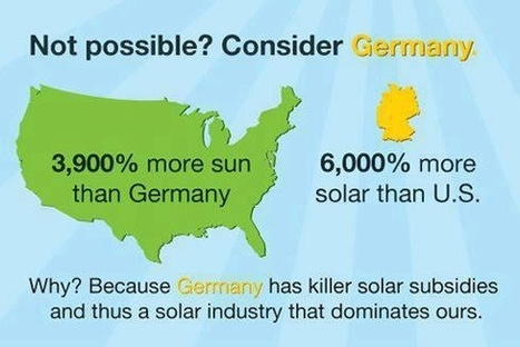 Germany: 6000% more Solar than US | Sustainable ⊜ Smart Path | Scoop.it