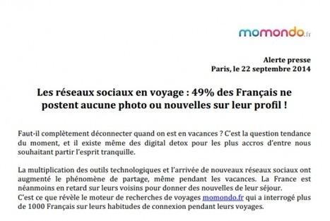Mes vacances sur Facebook ou Twitter ? Même pas vrai ! - Etourisme.info   AFPA et tourisme   Scoop.it