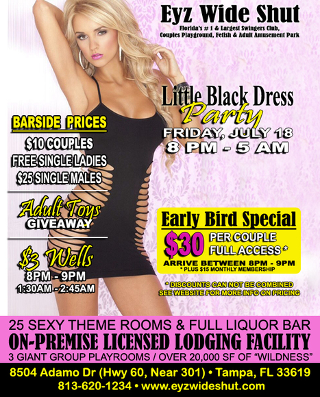 Eyz Wide Shut Tampa Swing Club florida swingers, adult nightclub and lodging | sex night club | Scoop.it