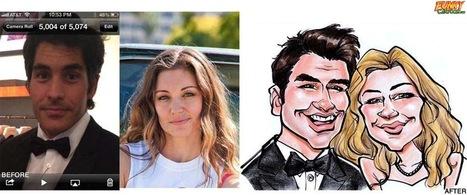 Our latest caricature Beautiful Couple Wedding Caricature | Custom Caricatures | Scoop.it