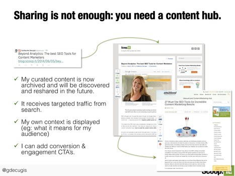 The role of content curation in proving expertise - and why you need a curation hub | iEduc | Scoop.it