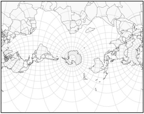 Mercator projection with Africa at the top.... - Maps on the Web | Maps | Scoop.it