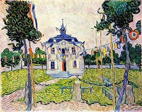 En Auvers ayuntamiento 14 de julio 1890 1890 - Pintura al óleo | Landscapes oil paintings | Scoop.it