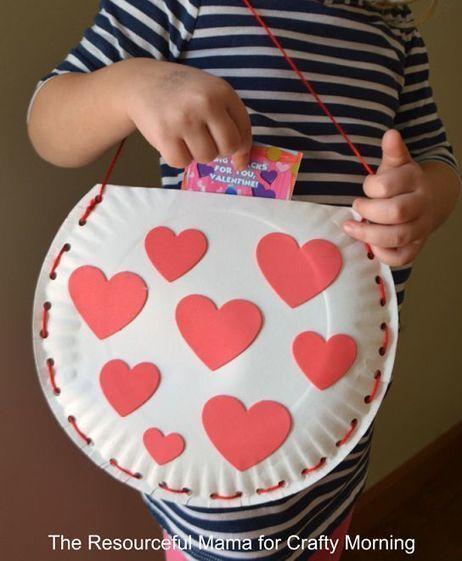Paper Plate Valentine Bag Craft for Kids | Arts & Crafts | Scoop.it