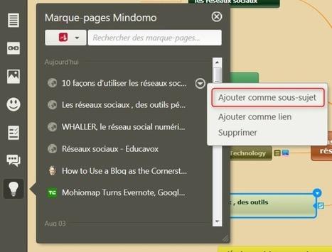 Veille informative en ligne : organisez vos liens avec Mindomo | François MAGNAN  Formateur Consultant | Scoop.it