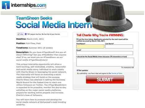 Our Fascination with Charlie Sheen and Social Media Interns | Business 2 Community | Multimedia Journalism | Scoop.it