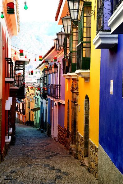calle jaen la paz bolivia bolivien latin