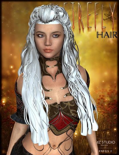 3d Model Art Zone: 3d Models Art Zone - FireFly Hair for Genesis 2 Female(s) and V4 | 3d Models | Scoop.it