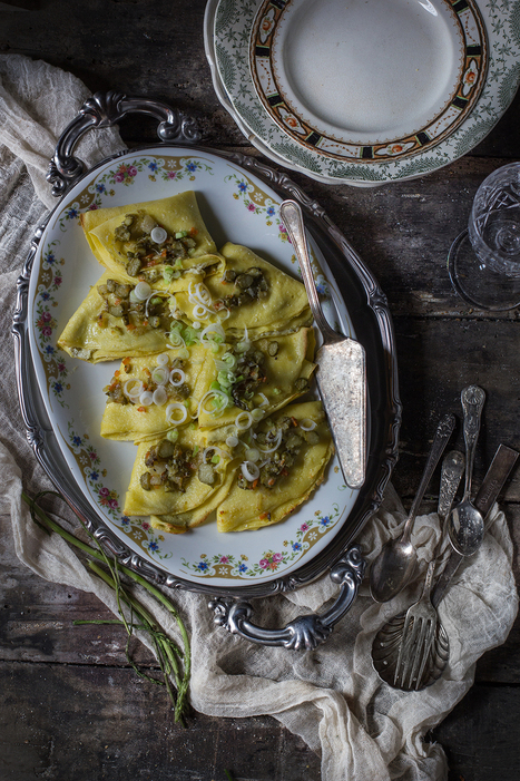 Asparagus & Ricotta Chickpea Crespelle | Le Marche and Food | Scoop.it