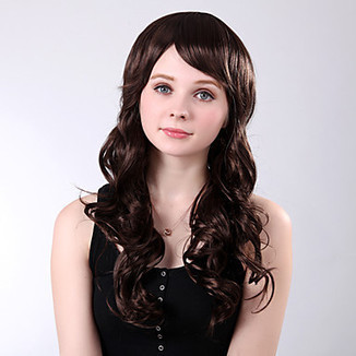 Capless Long Side Bang Curly High Quality Synthetic Brown Wings – WigSuperDeal.com | African American Wigs | Scoop.it