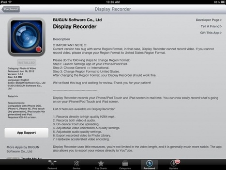 App #11: Display Recorder: Video Record your iOSdevice! | iPads in K12 Education | Scoop.it
